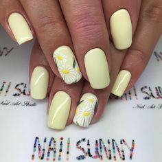 "5,353 Likes, 10 Comments - +7(919)7777-2-79MOSCOW  (@nail_sunny) on Instagram: ""Ромашки, мастер Даша, @nail_sunny Киевская """