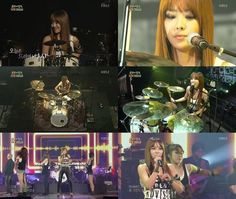 Brown Eyed Girls' Narsha puts on a drum performance on 'Immortal Song 2′