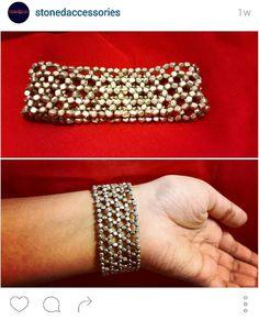 Silver web bracelet