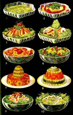 Jello molds. Why did they always insist on combining fruits, vegetables and meat in these horrors?