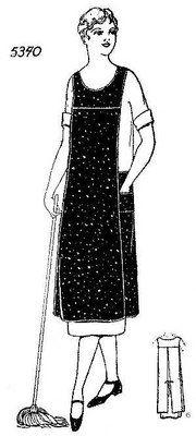 1920's smock style apron