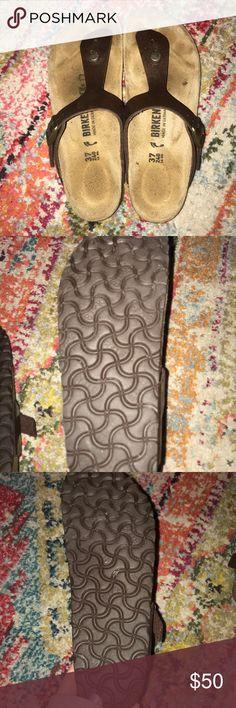 Toffee colored birkenstocks Worn a few times. Size 37 narrow Birkenstock Shoes Sandals