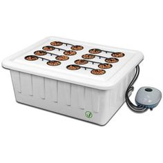 Hydroponics Gardening SuperCloset SuperPonic 16 - Hydroponic Grow System - 16 site hydroponic grow system for SuperCloset systems. Comes with air pump, 185 gph water pump, 3 in net cups, 2 air stones. Just plug in and add water. Hydroponic Grow Systems, Hydroponic Farming, Aquaponics Fish, Hydroponics System, Hydroponic Gardening, Indoor Aquaponics, Grow Cabinet, Grow Boxes, Grow Room