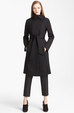 Armani Collezioni Water Repellent Neoprene Coat available at #Nordstrom