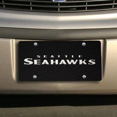 Seattle Seahawks Stadium License Plate - Black