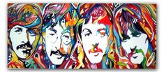 The BEATLEs Original Handpainted Bespoke Canvas Art from The Kludoman Surf Co.