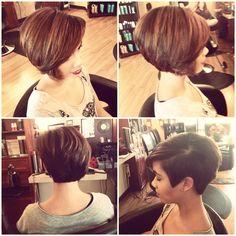 Asymmetrical short haircut Frankie Sandford  inspired @Chris  Khoshghadami