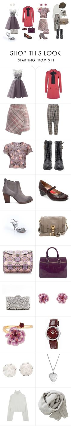 """""""I want to be different"""" by olga-fadeeva-1 on Polyvore featuring мода, RED Valentino, Chicwish, Vivienne Westwood Anglomania, Needle & Thread, UGG, SoftWalk, De Blossom, Proenza Schouler и Furla"""