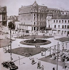 locuri în Bucureşti...: Blocul ce se construieşte în faţa Casei Centrale a Armatei Little Paris, Bucharest Romania, Modernism, Belle Epoque, Old Pictures, Time Travel, Old Town, The Past, Places To Visit