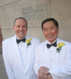 "After 21 years together, 71-year-old George Takei (Heroes, Star Trek, The Howard Stern Show) and 54-year-old Brad Altman married on September 14, 2008 in Los Angeles California. Two hundred guests, best man Walter Koenig (who played Chekov on Star Trek) and ""best lady"" Nichelle Nichols (who played Uhura on Star Trek), attended the ceremony at the Democracy Forum of the Japanese American National Museum."