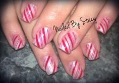 Candy Cane Nails (Hand painted) by NailedByStacy - Nail Art Gallery nailartgallery.nailsmag.com by Nails Magazine www.nailsmag.com #nailart