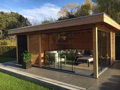 Outdoor Gazebos, Outdoor Rooms, Garden Bar Shed, Home And Garden, Modern Backyard, Backyard Landscaping, Garden Cabins, Backyard Pavilion, Outdoor Storage Sheds