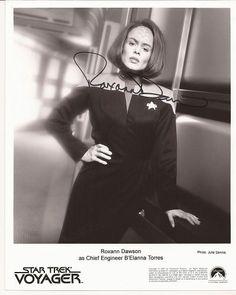 ROXANN DAWSON Star Trek Voyager Hand Signed 8x10 Photo Free S/H in US