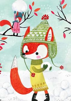 Foxes In The Snow | Miriam Bos