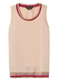 Top rosa 136796 Maison Scotch Lurex Trimmed Top - blush