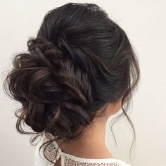 Elegant chic bun with volume on top,mother of the bride hair,wedding hairstyle ideas