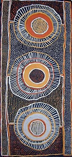 This excellent painting by Jean Baptiste Apuatimi demonstrates how the eye naturally wants to fall on the area of an image that is highest in contrast. In this case the middle of the artwork. Contrast is a very powerful composition tool Más Indigenous Australian Art, Indigenous Art, Aboriginal Art Australian, Arte Tribal, Tribal Art, Geometric Art, Aboriginal Painting, Dot Painting, Graffiti Kunst