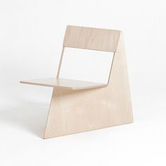 1 of 4 chair designs created/squeezed out of a laser cut 8X4 sheet of wood, student work by Mun Seungi