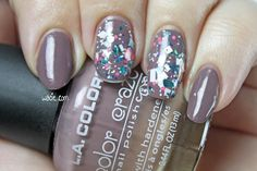 Brown and Color: LA Colors's Twisted Affair and Blue-Eyed Girl Lacquer's Prototype PCFS 1.0