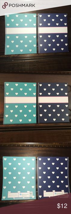 Selling this 2 New Pottery Barn Kids Heart Notebooks Blue Teal on Poshmark! My username is: shaybrooks07. #shopmycloset #poshmark #fashion #shopping #style #forsale #Pottery Barn Kids #Accessories