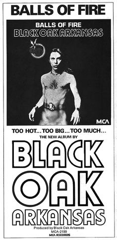 Black Oak Arkansas Advertise