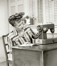 I Love Lucy. I love Lucy, just like my sisters! I Love Lucy, My Love, Lucy Lucy, Sewing Hacks, Sewing Crafts, Sewing Projects, Sewing Kits, Lucille Ball, My Sewing Room