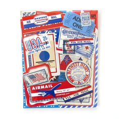 Airmail Paper Pack from Saturday Morning Vintage.