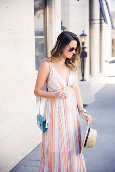 rainbox maxi dress |