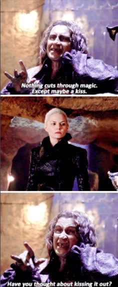 """""""Nothing cuts through magic. Except maybe a kiss"""" - Dark Swan and Rumple (as Dark One conscience) #OnceUponATime"""