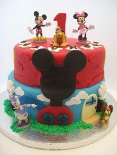 Mickey Clubhouse Cake 2 tier $350  (figurines bought from a licensed retailer)