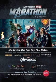 Ultimate Marvel Marathon 2012 poster