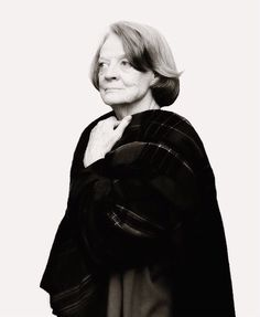 """""""Maggie has this quality, of imbuing every line with a wit and dimension it sometimes does not deserve. For a writer, this is an attractive gift in an actor. She also has a unique sense of comedy,. Maggie Smith, Judi Dench, Alan Rickman, Harry Potter Memes, Downton Abbey, World Of Fashion, Character Inspiration, Actors & Actresses, Fangirl"""