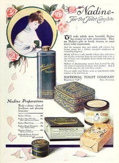 Nadine Tolietries, August 1920. #vintage #beauty #1920s