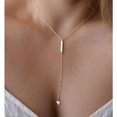 Triangle Bar Choker Drop Necklace (120 ZAR) ❤ liked on Polyvore featuring jewelry, necklaces, gold, gold jewelry, gold jewellery, gold choker, triangle jewelry and choker jewelry