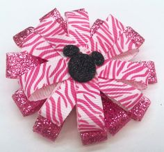 Adorable Mickey Hair Bow for Little Girls by KristyJsCreations, $7.00