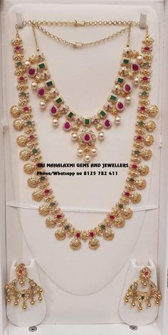 Presenting here is Ram Parivaar Haar with matching Necklace and Chandbali.Contact no 03 January 2019 Pearl Jewelry, Indian Jewelry, Wedding Jewelry, Beaded Jewelry, Wedding Ring, Pendant Jewelry, Jewelry Sets, Gold Jewelry Simple, Gold Jewellery Design
