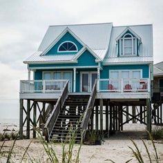 38 Popular Beach House Exterior Color Ideas - HOOMDESIGN Best Picture For cozy beach house decor For Your Taste You are looking for something, and it is going to tell you exactly what you are looking Beach Cottage Style, Coastal Cottage, Coastal Homes, Beach House Decor, Coastal Living, Cottage Art, Beach Homes, Beach Front Homes, Southern Living
