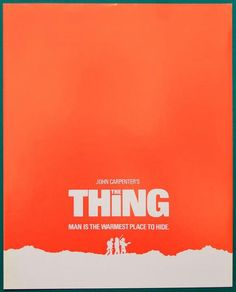 John Carpenter's The THING rare red UK leaflet