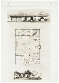 San Diego courtyard design from the early 1930s by Cliff May
