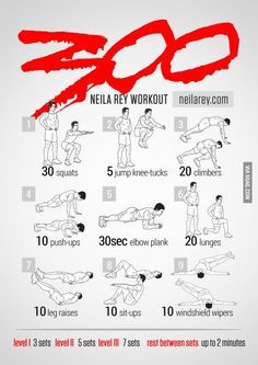 Sparta workout! Im gonna do this while watching 300 for extra inspiration...I wanna be fit to kick someone into the pit!