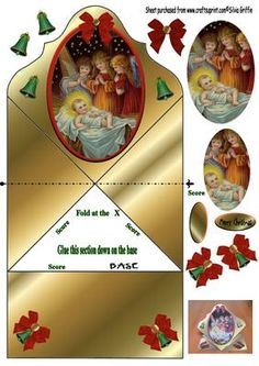 Jesus with Kids in gold Nativity FC on Craftsuprint - Add To Basket!