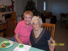 My Aunt Kitsy (on the right)