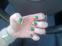 Irish Flag Nail Art Nails British Isles One Direction Ireland