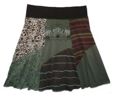 Wild by Nature Plus Size Boho Chic Hippie Skirt Women's 1X 2X upcycled clothing from Twinkle