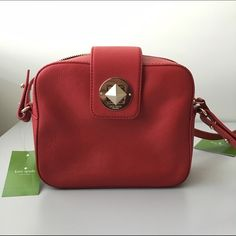 """❗️FLASH SALEKate Spade Chrystie Street Isla Gorgeous Kate Spade Chrystie Street Isla shoulder bag in Pillbox red. Add a pop of color to any outfit with this gorgeous shade of red. 100% finest quality leather  Shoulder bag with zip top and signature turn lock closure  Zip closure, custom lining, and interior zip pocket  Strap with a 20"""" drop  Measures approximately 8"""" L x 6.5"""" H x 2.75"""" D  MSRP: $298.00 + tax kate spade Bags Shoulder Bags"""