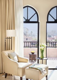 Go on, put your feet up. (At @Four Seasons Resort Marrakech's Presidential Suite.)