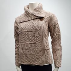 Carraig Donn Irish Cardigan for Women   Womens Irish Sweaters   Moose Mountain
