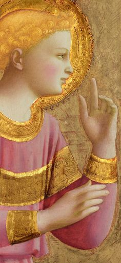 Angel of the Annunciation, detail, Fra Angelico -