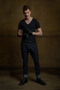 Peep von Vähi / Black Vneck together with Tapered MINU Jeans / Reval Denim Guild / Chapter One