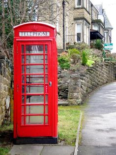 Red phone box Harrogate